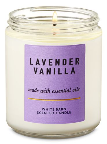 Vela-Mediana---Lavender-Vanilla---Bath---Body-Works