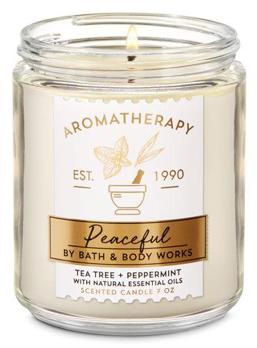 Vela-Mediana-Tea-Tree-Pepermint-Bath-and-Body-Works