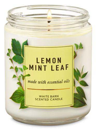 Vela-Mediana-Lemon-Mint-Leaf-Bath-and-Body-Works