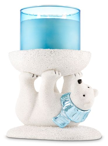 Porta-Vela-Grande-White-Glitter-Bath-And-Body-Works